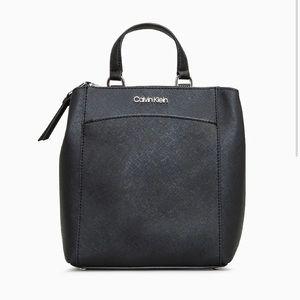 Calvin klein hayden saffiano leather backpack